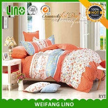 alibaba china Cotton polyester print brand bedding duvet cover set