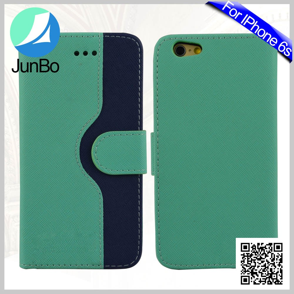 Alibaba Express JUNBO Factory Price handphone accessories Slim Classical PU Fashion Leather Mobile Flip Cover Case For iphone 6s