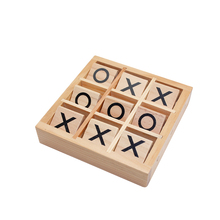 custom design mini wooden board game tic tac toe game pieces with high quality