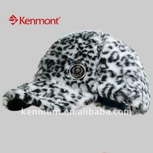 Kenmont Brand hot sale new winter panther print cap