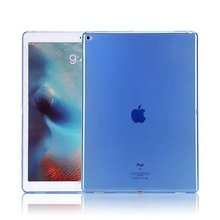 Guangzhou Wholesale Market High Quality Clear 1.0mm Ultra Thin Soft TPU Tablet Case for iPad2/3/4