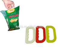 cheapest price food packaging plastic rice bag carrying handle