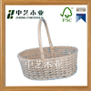 FSC chinese manufacture custom white wicker basket