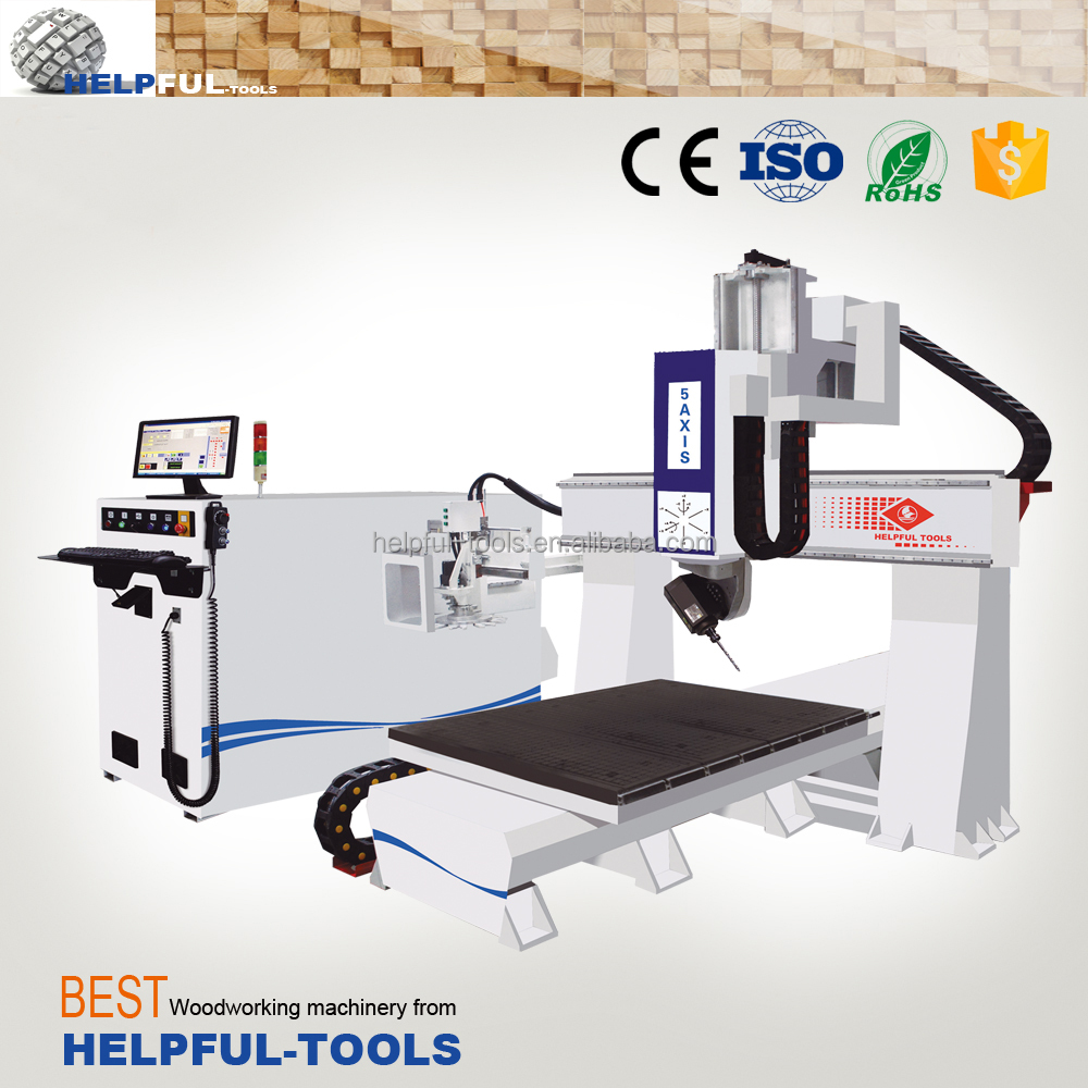 Helpful Brand Shandong Weihai 3D 5-axis CNC router machine HF1224SX, CNC wood carving machine , Woodworking machine