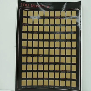 Low MOQ 100 Must See Movies Scratch Off Bucket List Movies Poster