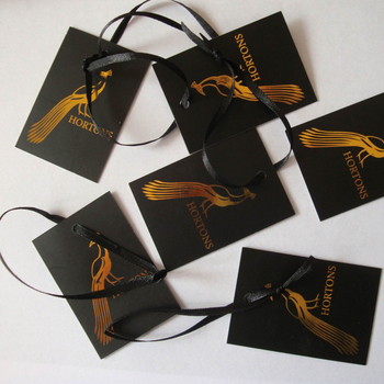 Printed luxury design black China hang tags