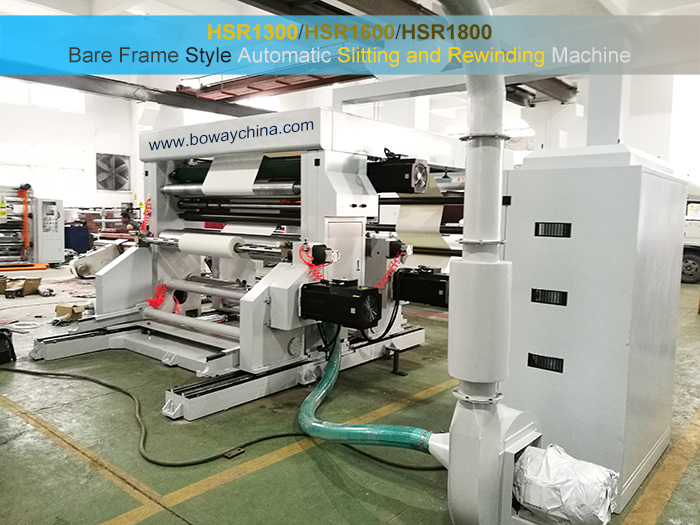 Bare Frame Style Full Automatic High Speed Roll Paper Slitting And Rewinding Machine