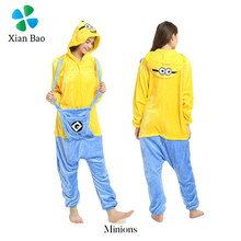 New Fashion Wholesale Autumn And Winter Animal Pajamas Flannel Minions Onesie