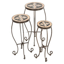 3/S mosaic slate flower plant stand sets