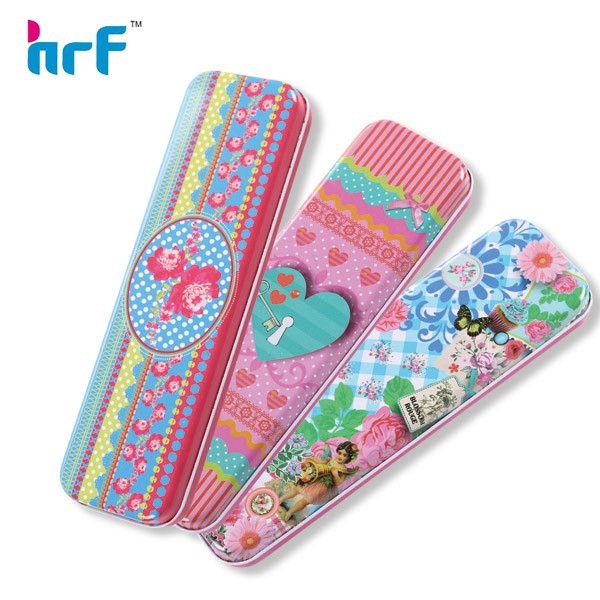 2016 Cute Metal tin pencil Case for Childen