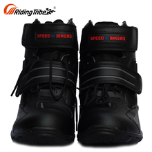 Motorbike Long Moto Most Comfortable Mens Motorcycle Riding Leather Bike Shoes Sale