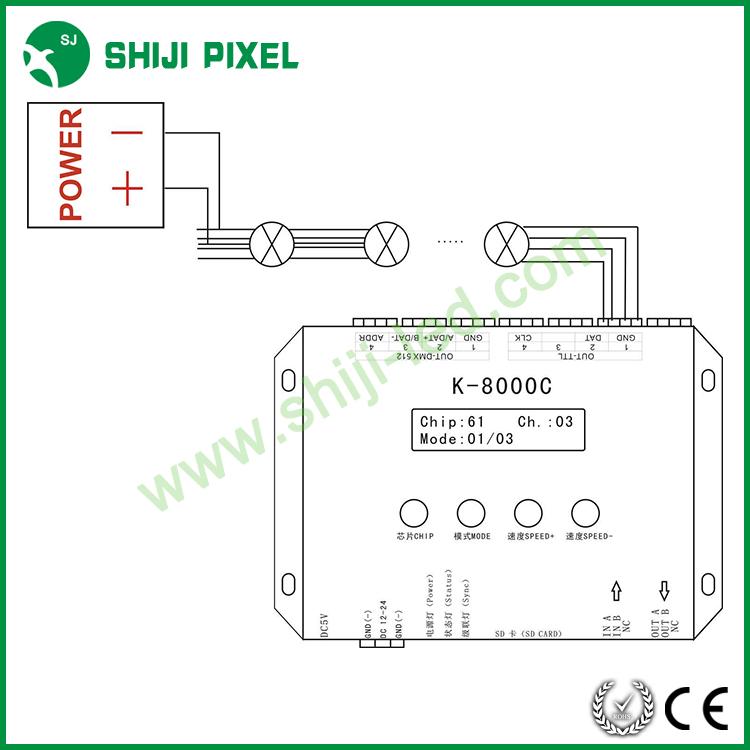 Sd Card Led Rgb Controller K 8000c For Led Strip Led Pixel Light