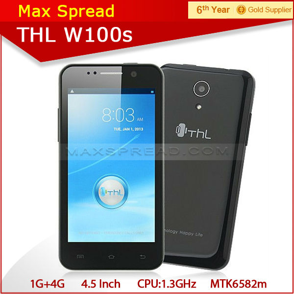 wholesale!! original THL W100 MTK6589 4.5 inch screen 1gb ram Android 4.2 Quad Core Phone THL W100