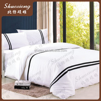 white hotels bed sheets Manufacturers /100% cotton sateen fabric for bedding