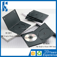 High Quality 7mm black PP Single Disc DVD Case /DVD box/DVD cover