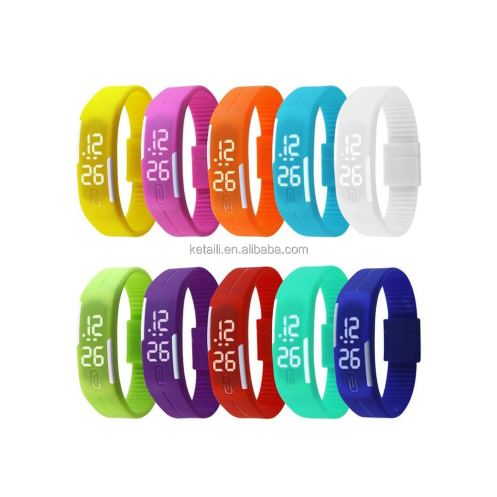 New Fashion Bracelet Watch Waterproof Digital LED Sports Silicon Watch Wrist Watch