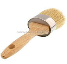 european hard wax round paint brush 100% bristle brush