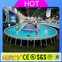 Unique design metal frame swimming pool / frame swimming pool