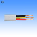 China Dongguan factory production 12awg*3c solid/ multi stranded bare copper conductor pvc coated undergroud flat cable
