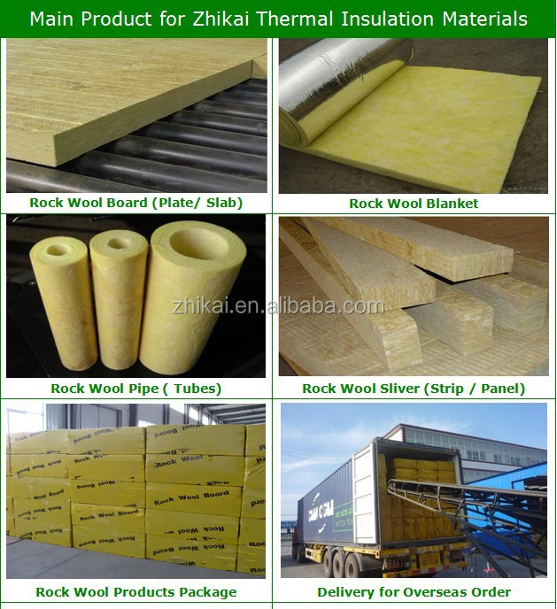 Steam Pipe Insulation Material Rockwool Pipe Insulation