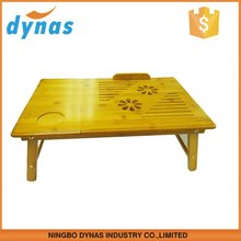 Adjustable and Multi-function Bamboo Laptop Table with Fan