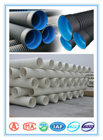PE plastic tube for water/gas supply corrugated hdpe pipe sizes chart