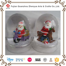 Resin Plastic Decoration Christmas Snow globe,Custom Souvenir Water ball of Santa Claus