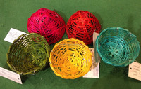 super cheap colorful bamboo woven/weaving bird nest/bamboo bird house