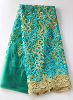 Fascinating indian retail german high quality lace fabric aso ebi fashion wedding french lace with rhinestones