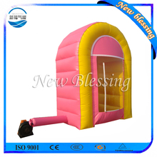 Inflatable money catching machine, cube cash catching machine, inflatable cash catching