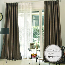 Well Designed dull blackout fabric drapery designed embossed
