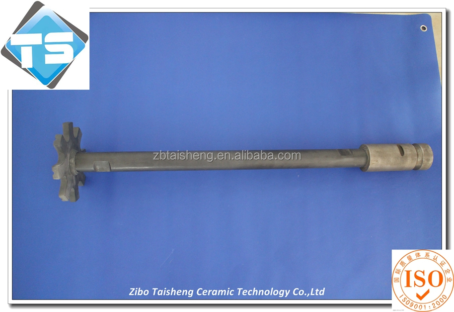 heat resistant silicon nitride shaft and rotor for aluminum casting