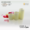 wedding home decorative scented wax LED candle 7.5 cm *7.5/10/12.5/15cm three size/set