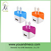 Colorful US plug wholesale usb wall charger for iphone home ul usb wall charger cheaper flat mobile phone charger