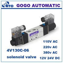 5 way 3 position rotary pneumatic valves 12v air solenoid valve