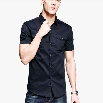 Model man shirt two pocket short sleeve mens shirt buy for Mens two pocket short sleeve shirts