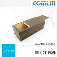 Wholesale Customer LOGO Push Cover Glasses Bamboo Box Eyewear Case