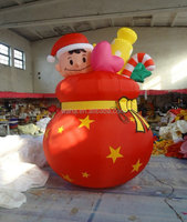 good quality and hot selling decorative inflatable christmas bags