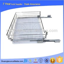 China supply metal wire kitchen drawer basket, pull out wire drawer basket, drawer slide storage baskets