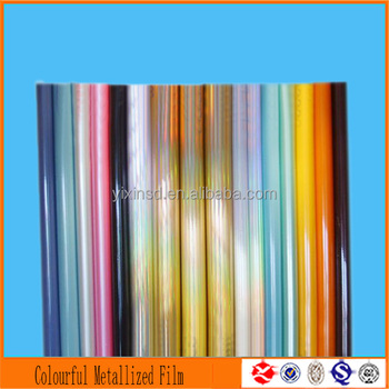 colorful film packaging roll metallized film for laminating