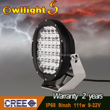 LED Lights Guangzhou 9inch 111w Round LED Offroad Driving Light forTruck, Trailer Car, 4X4, 4WD, ATV etc