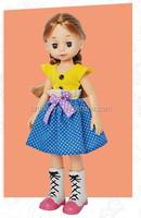 Custom toy sleeping vinyl baby doll with glasses