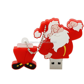 Christmas Gift Market Best Ideas cartoon Santa Claus usb flash drive