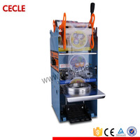 small automatic plastic cup lid sealing machine for beverage