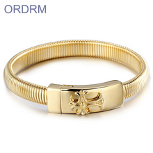 Classic men bracelet 316l stainless steel factory price gold bracelet designs men