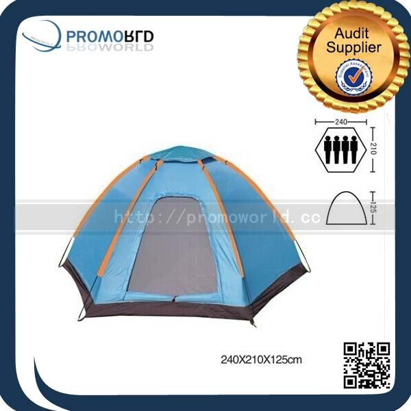 2015 Summer Family Camping Outdoor Blue Color Large Picnic Tent With Window