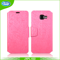 Silk Pattern Leather Mobile Case Flip Cover for Galaxy A7 2016