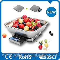 2015 Hot Bluetooth Smart Kitchen Scale for fruit vegetable and food