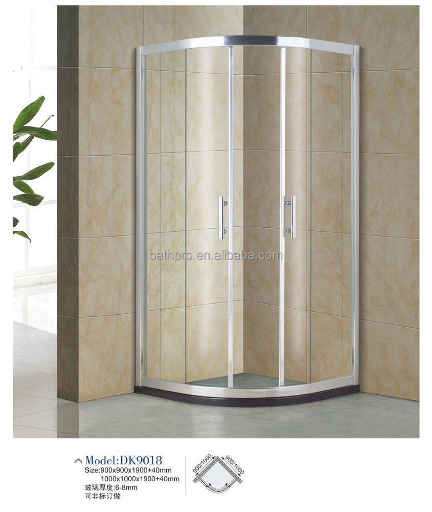 Italian design quadrant glass shower room