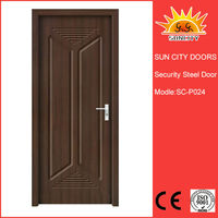 2014 latest design wooden interior mdf pvc room door be well received